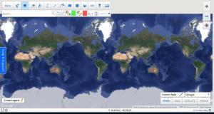 Η αρχική σελίδα επεξεργασίας του Scribble Maps